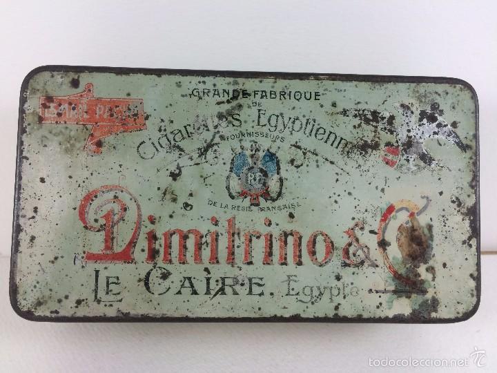 Cajas y cajitas metálicas: Caja tabaco Dimitrino & Co. Egipto El Cairo - Manufacture de Cigarettes 1910 - Foto 6 - 57360513