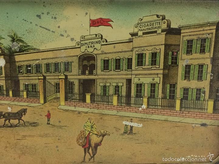 Cajas y cajitas metálicas: Caja tabaco Dimitrino & Co. Egipto El Cairo - Manufacture de Cigarettes 1910 - Foto 7 - 57360513
