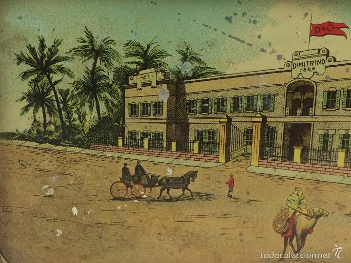 Cajas y cajitas metálicas: Caja tabaco Dimitrino & Co. Egipto El Cairo - Manufacture de Cigarettes 1910 - Foto 8 - 57360513