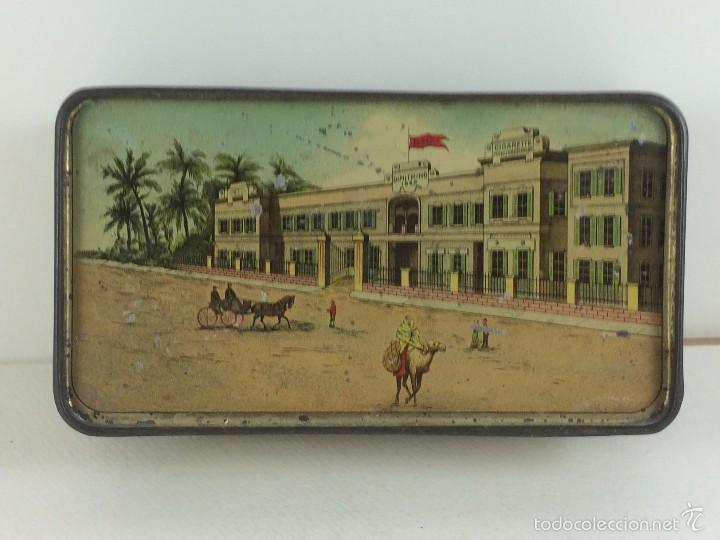 Cajas y cajitas metálicas: Caja tabaco Dimitrino & Co. Egipto El Cairo - Manufacture de Cigarettes 1910 - Foto 9 - 57360513