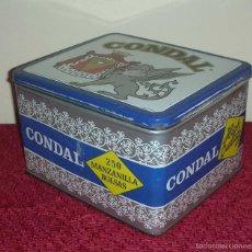 Cajas y cajitas metálicas: CAJA DE LATA, CONDAL, ESPINARDO, MURCIA. Lote 57399610