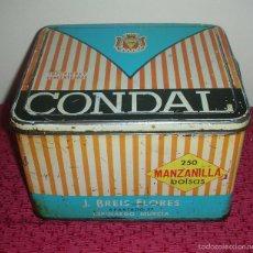 Cajas y cajitas metálicas: CAJA DE LATA CONDAL, ESPINARDO, MURCIA. Lote 57407068
