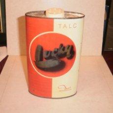 Cajas y cajitas metálicas: ASEO Y BAÑO. TALCO, LUCKY BOTE DE LATA METÁLICO. AÑOS 60/70, MUY BUEN ESTADO, CON TALCO. Lote 57565005