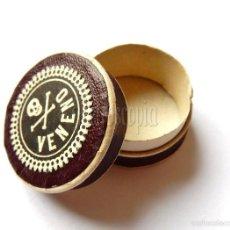 Cajas y cajitas metálicas: CAJA / CAJAS / CAJITAS DE CARTON DE VENENO. FARMACIA AÑOS 40 - 50. Lote 125104719