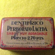 Cajas y cajitas metálicas: ANTIGUA CAJA DE HOJALATA LITOGRAFIADA. Lote 57681694