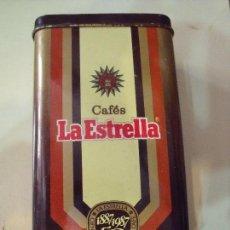 Cajas y cajitas metálicas: LATA CAFES LAS ESTRELLA. Lote 57731634