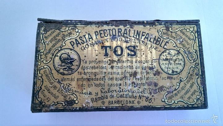 CAJITA METÁLICA PASTA PECTORAL DR. ANDREU (Coleccionismo - Cajas y Cajitas Metálicas)