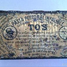 Cajas y cajitas metálicas: CAJITA METÁLICA PASTA PECTORAL DR. ANDREU. Lote 57742565