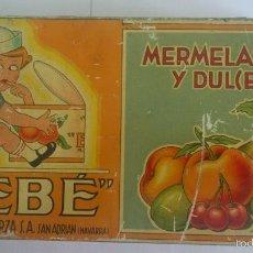 Cajas y cajitas metálicas: CAJA CHAPA MERMELADAS Y DULCES BEBE, INDUSTRIAS MUERZA, SAN ADRIAN NAVARRA, MEDIDAS 24 X 13 X 4,5 CM. Lote 57751231