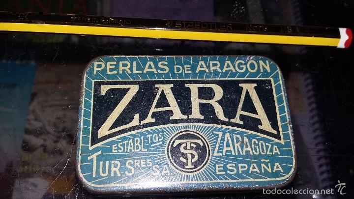 PASTILLAS ZARA ZARAGOZA CAJA METAL. (Coleccionismo - Cajas y Cajitas Metálicas)