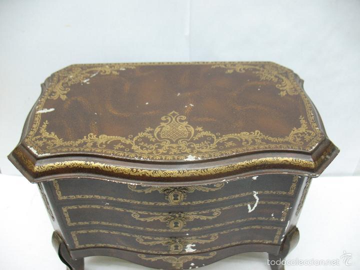 Cajas y cajitas metálicas: M Vitie Price EDINBURGH - Antigua caja metálica con forma de cómoda - Foto 3 - 57849387