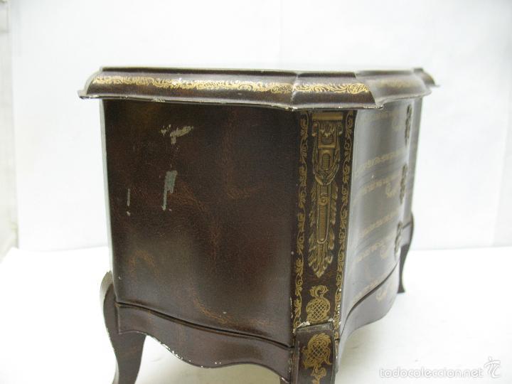 Cajas y cajitas metálicas: M Vitie Price EDINBURGH - Antigua caja metálica con forma de cómoda - Foto 5 - 57849387