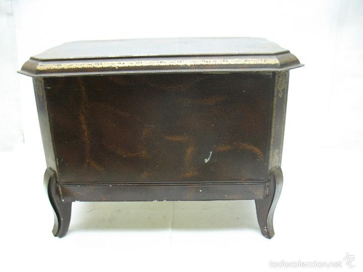 Cajas y cajitas metálicas: M Vitie Price EDINBURGH - Antigua caja metálica con forma de cómoda - Foto 6 - 57849387