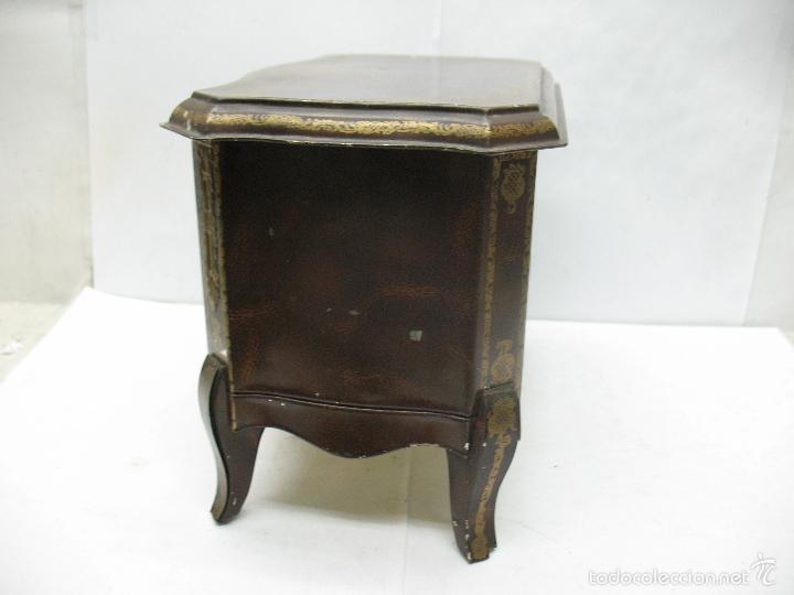 Cajas y cajitas metálicas: M Vitie Price EDINBURGH - Antigua caja metálica con forma de cómoda - Foto 7 - 57849387