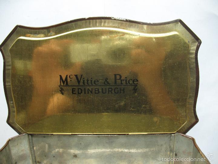 Cajas y cajitas metálicas: M Vitie Price EDINBURGH - Antigua caja metálica con forma de cómoda - Foto 8 - 57849387