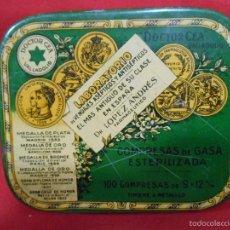Cajas y cajitas metálicas: ANTIGUA -LATA - CAJA EN CHAPA SERIGRAFIADA DEL LABORATORIO DR. CEA VALLADOLID . Lote 83884343