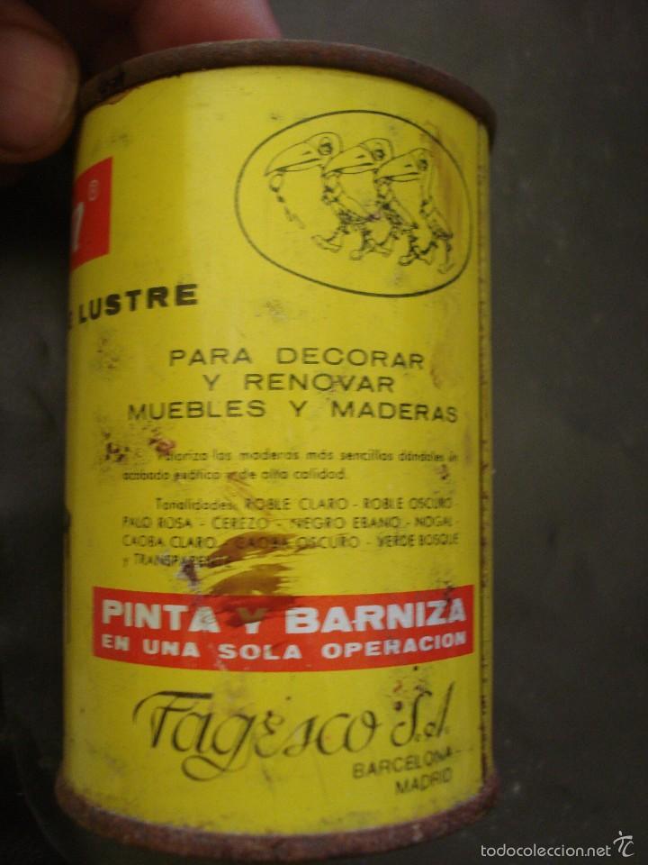 Cajas y cajitas metálicas: Bote de TINTE los años 60 Laccarin CAOBA CLARO. AUN CONTIENE PRODUCTO - Foto 2 - 57937638