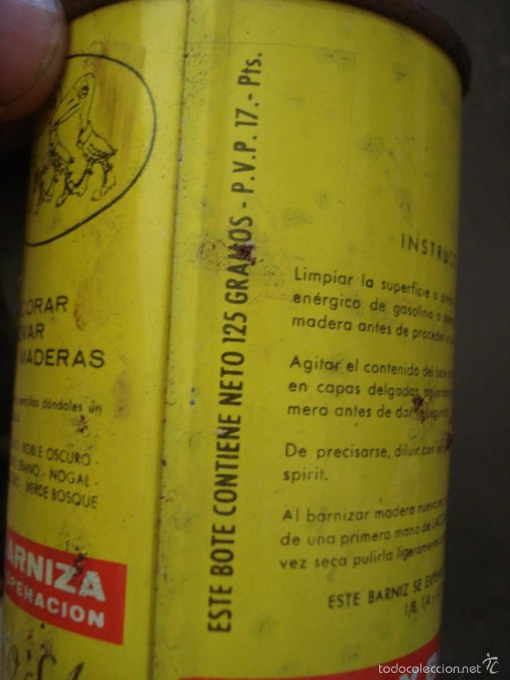 Cajas y cajitas metálicas: Bote de TINTE los años 60 Laccarin CAOBA CLARO. AUN CONTIENE PRODUCTO - Foto 3 - 57937638