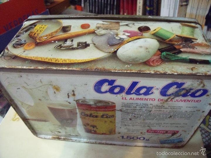 CAJA COLA CAO COSTURERO (Coleccionismo - Cajas y Cajitas Metálicas)