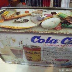 Cajas y cajitas metálicas: CAJA COLA CAO COSTURERO. Lote 58145178