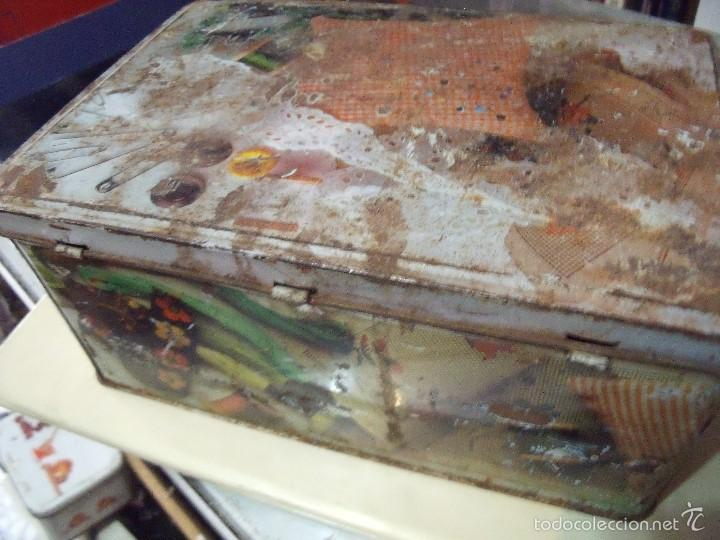 Cajas y cajitas metálicas: CAJA COLA CAO COSTURERO - Foto 2 - 58145178