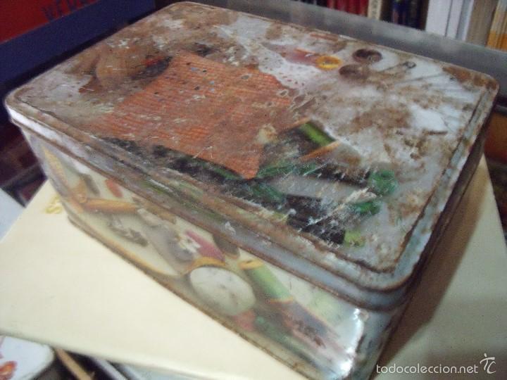Cajas y cajitas metálicas: CAJA COLA CAO COSTURERO - Foto 3 - 58145178