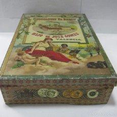 Cajas y cajitas metálicas: CAJA DE HOJALATA,CHOCOLATES EL BARCO,VALENCIA,ORIGINAL,BUEN ESTADO,LA DE LAS FOTOS. Lote 58188947