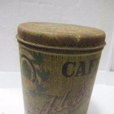 Cajas y cajitas metálicas: CAJA METÁLICA DE CAFÉ ADELINO. BRASIL. 17 CM DE ALTO. Lote 58198655