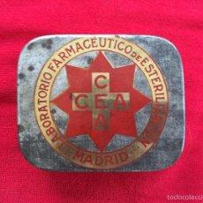 Cajas y cajitas metálicas: CAJA METAL LABORATORIO FARMACÉUTICO DE ESTERILIZACIÓN FARMACIA CEA MADRID. Lote 58278296