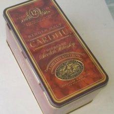 Cajas y cajitas metálicas: CAJA METÁLICA DE WHISKI CARDHU 12 AÑOS. Lote 58279682