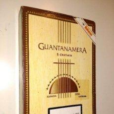 Cajas y cajitas metálicas: CAJA VACIA DE PUROS. GUANTANAMERA. HECHO EN CUBA.. Lote 58300088