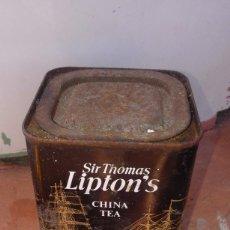 Cajas y cajitas metálicas: VENDO ANTIGUA LATA DE TÉ CHINA TEA SIR THOMAS LIPTON LIMITED. Lote 58370355