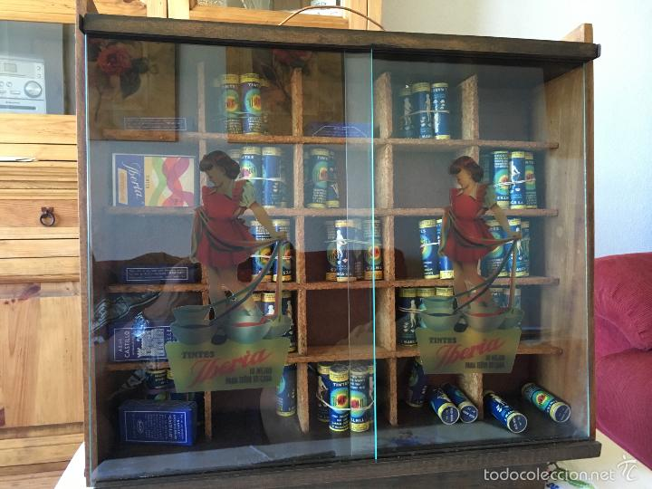 Cajas y cajitas metálicas: ANTIGUO MUEBLE EXPOSITOR DE TINTES IBERIA - Foto 3 - 58438361