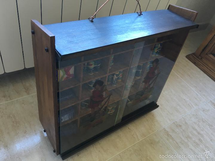 Cajas y cajitas metálicas: ANTIGUO MUEBLE EXPOSITOR DE TINTES IBERIA - Foto 5 - 58438361