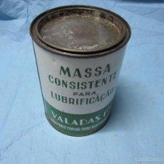 Cajas y cajitas metálicas: LATA BOTE ANTIGUO DE GRASA VALADOIL VL PORTUGUES LISBOA OPORTO EMPESA VALADAS LDA. Lote 58453450