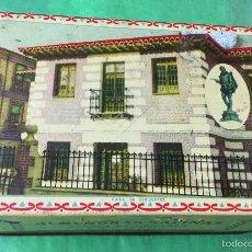 Cajas y cajitas metálicas: ANTIGUA CAJA METÁLICA DE ALMENDRAS GARAPIÑADAS SALINAS - ALCALÁ DE HENARES (MADRID). Lote 58652233