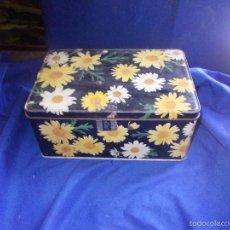 Boxes and metal boxes - caja de cola-cao de flores - 58680329