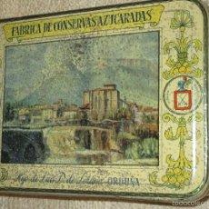 Cajas y cajitas metálicas: FÁBRICA DE CONSERVAS AZUCARADAS HIJO DE LUIS D. DE LEZAMA, ORDUÑA, VIZCAYA, BILBAO. Lote 58685123