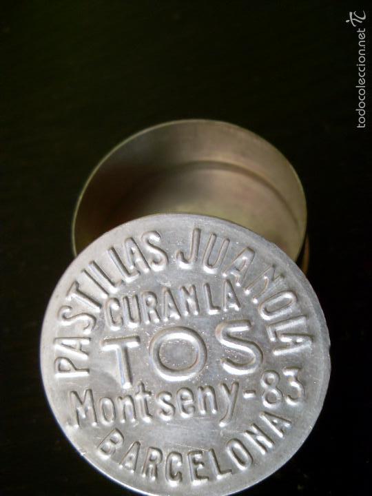 ANTIGUA CAJA METÁLICA DE PASTILLAS JUANOLA (Coleccionismo - Cajas y Cajitas Metálicas)