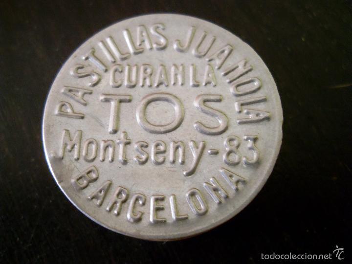 Cajas y cajitas metálicas: Antigua caja metálica de Pastillas Juanola - Foto 4 - 58872811