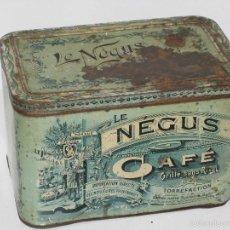 Cajas y cajitas metálicas: CAJA HOJALATA ANTIGUA (LE NÉGUS). Lote 59447500