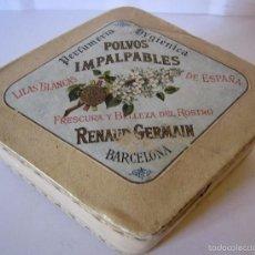 Cajas y cajitas metálicas: CAJA POLVERA MUY ANTIGUA ''POLVOS IMPALPABLES'' RENAUD GERMAIN. Lote 59518831