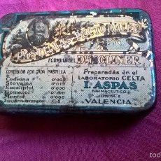 Cajas y cajitas metálicas: PASTILLAS PECTORALES DEL DOCTOR MOLINER, VALENCIA. ANTIGUA CAJITA METÁLICA. Lote 59559868