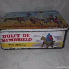 Cajas y cajitas metálicas: PRECIOSA CAJA METALICA DE DULCE DE MENBRILLO- PARA COLECCIONISTAS. Lote 59857216