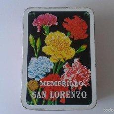 Cajas y cajitas metálicas: CAJA METÁLICA -- MEMBRILLO SAN LORENZO -- 29 X 20 X 10 --. Lote 59936267