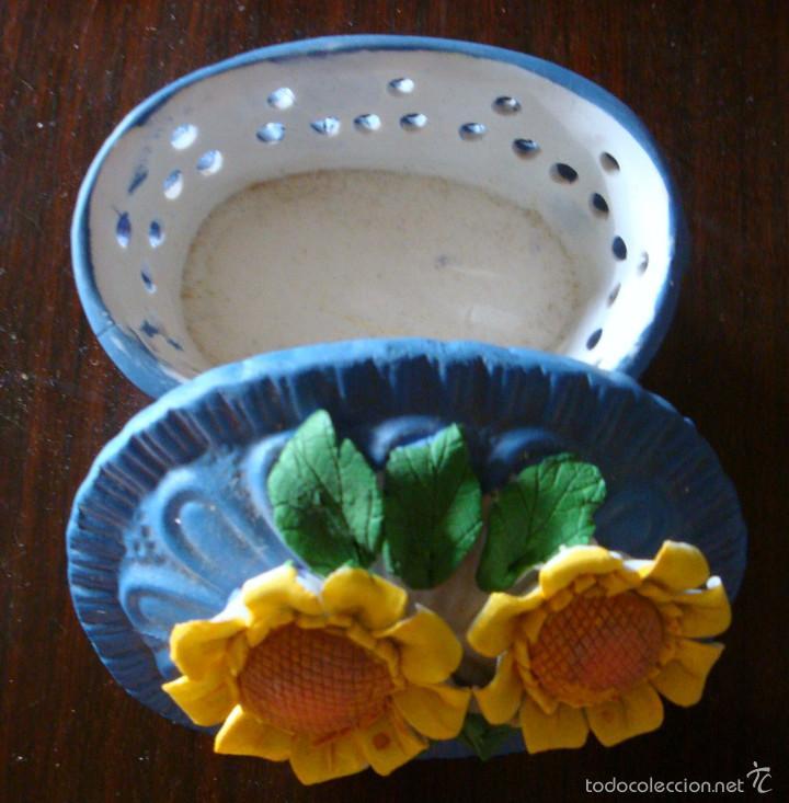 Cajas y cajitas metálicas: Caja cajita joyero cerámica girasol girasoles - Foto 2 - 59956427