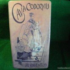 Cajas y cajitas metálicas: CAJA LATA DE CODORNIU MANUEL RAVENTOS. Lote 60065331