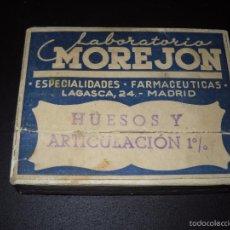 Cajas y cajitas metálicas: CAJA MEDICAMENTO LABORATORIO MOREJON. Lote 60189631