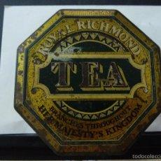 Cajas y cajitas metálicas: CAJA METALICA DE TE ROYAL RICHMOND TEA. Lote 60804543