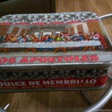 Cajas y cajitas metálicas: * ANTIGUA CAJA SERIGRAFIADA: DULCE DE MEMBRILLO MIGUEL SOLANO- PUENTE GENIL. Lote 60887282